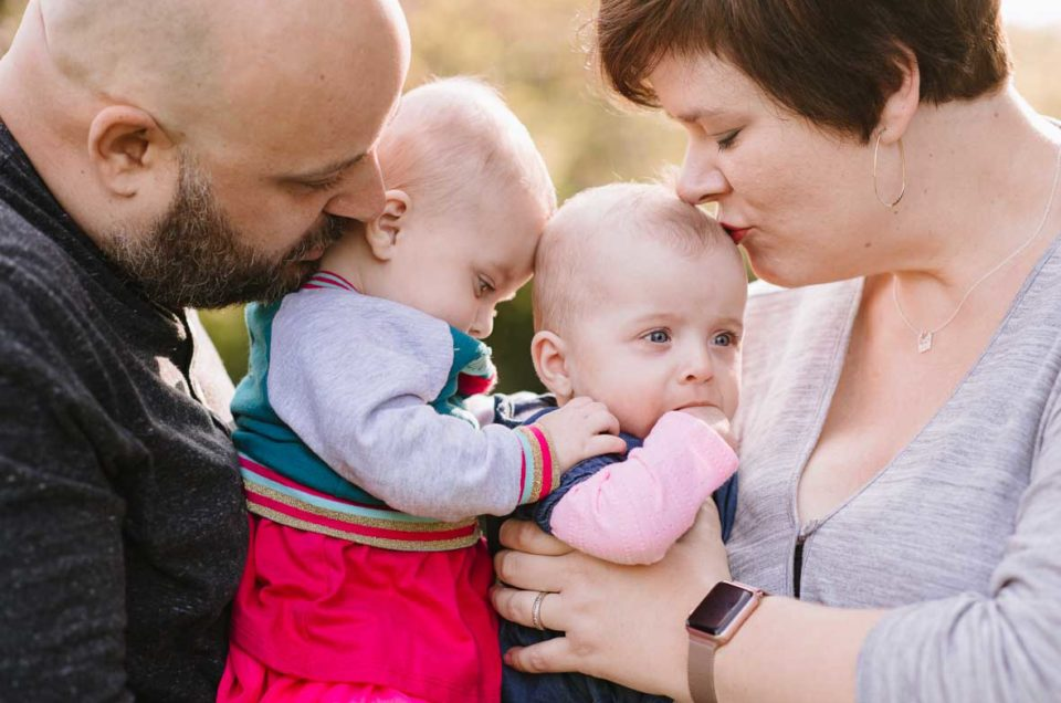 Six-Month Old Twins and Family Portraits